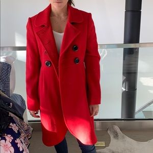 Kate Spade Red Coat Size 8